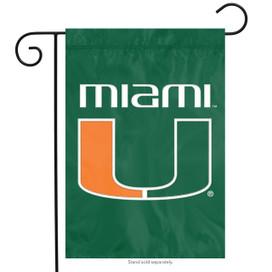 Miami Hurricanes NCAA Garden Flag