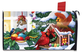 Home For The Holidays Christmas Mailbox Cover