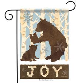Woodland Bears Winter Garden Flag