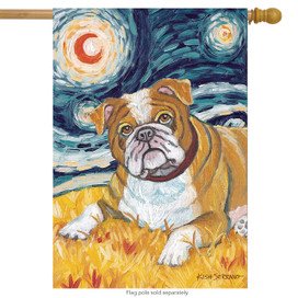 Van Growl Bulldog Dog House Flag