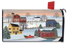 Winter Saltboxes Primitive Mailbox Cover