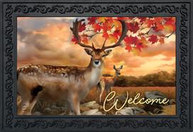 Harvest Deer Autumn Doormat