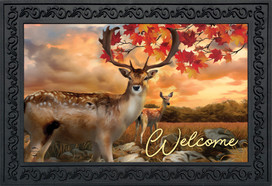 Harvest Deer Autumn Doormat