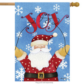 Joy Santa Holiday House Flag