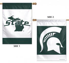 Michigan State Vertical 2 Sided House Flag