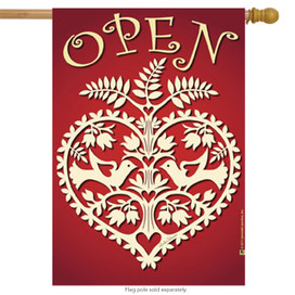 Open Heart For Business House Flag