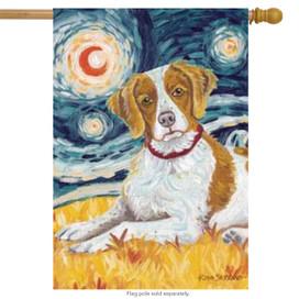Van Growl Brittany House Flag Dog
