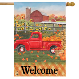Fall Farm Welcome House Flag