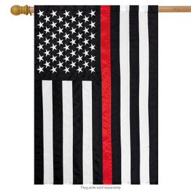 Thin Red Line Embroidered House Flag