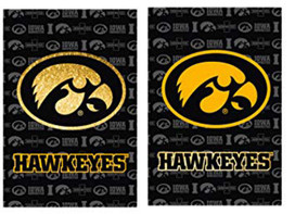 University of Iowa Hawkeyes NCAA Glitter Garden Flag