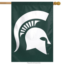 Michigan State Spartans NCAA House Flag