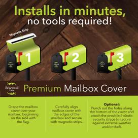 Fall Mason Jar Large / Oversized Mailbox Cover