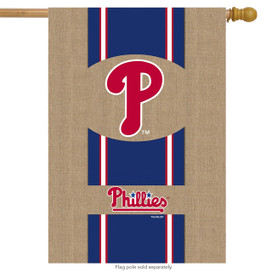 Philadelphia Phillies Burlaps MLB Licensed House Flag