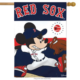 Boston Red Sox MLB Mickey Mouse Baseball House Flag