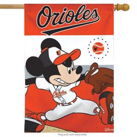 Baltimore Orioles MLB Mickey Mouse Baseball House Flag