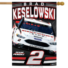Brad Keselowski #2 Vertical House Flag