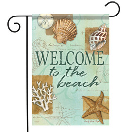 Beach Shells Summer Garden Flag