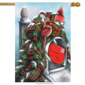 Letter to Santa Christmas House Flag