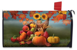 Bountiful Cornucopia Autumn Mailbox Cover