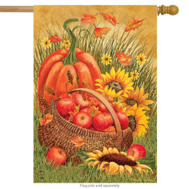 Pumpkin & Apples Autumn House Flag
