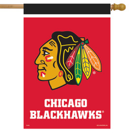 Chicago Blackhawks NHL Licensed House Flag