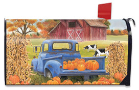 Pumpkin Patch Pickup Autumn Large / Oversized Magnetic Mailbox Cover