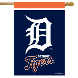 Detroit Tigers MLB House Flag