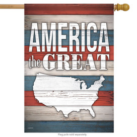 America the Great Patriotic House Flag