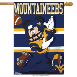 West Virginia University Mountaineers NCAA Mickey Mouse House Flag