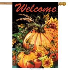 Autumn Harvest Welcome House Flag