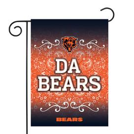Chicago Bears Paisley NFL Garden Flag