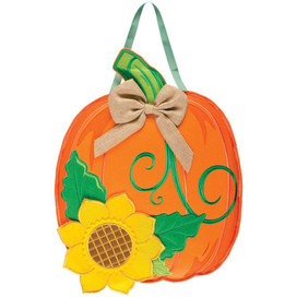 Pumpkin & Sunflower Fall Door Hanger
