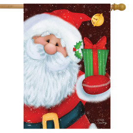 Santa's Gift Christmas House Flag
