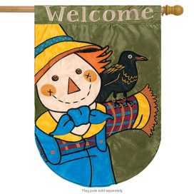 Scarecrow Buddy Applique House Flag