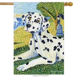 Grrraut Dalmatian Dog House Flag