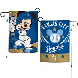 Kansas City Royals Mickey Mouse Garden Flag
