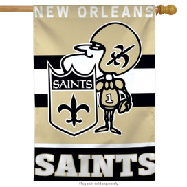 New Orleans Saints Sir Saint Vertical Flag