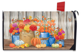 Fall Mason Jars Floral Mailbox Cover