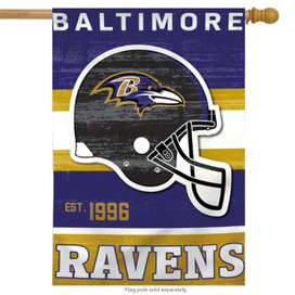 Baltimore Ravens Vertical NFL House Flag
