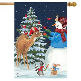 Season Of Giving Christmas House Flag