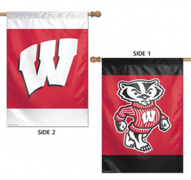 University of Wisconsin Badgers 2 Sided House Flag