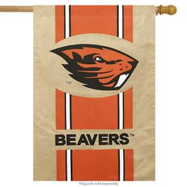 Oregon State Beavers Burlap Licensed NCAA House Flag