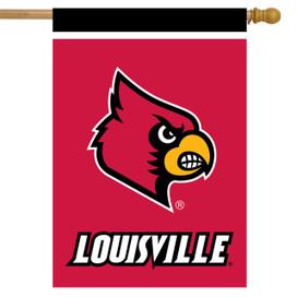 Louisville Cardinals NCAA House Flag