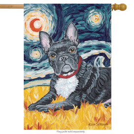 Van Growl French Bulldog House Flag