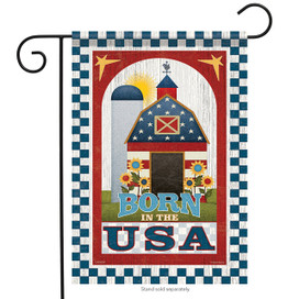 Patriotic Barn Garden Flag