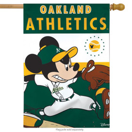 Oakland Athletics MLB Mickey Mouse Baseball House Flag