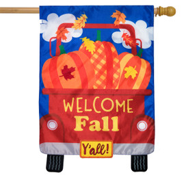 Welcome Fall Pickup Applique House Flag