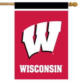 Wisconsin Badgers NCAA House Flag