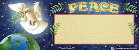 Peace Dove Holiday Mailbox / Door Magnet