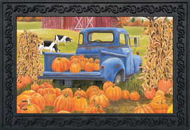 Pumpkin Patch Pickup Autumn Doormat